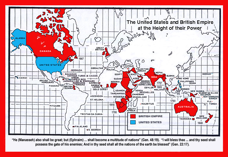 British Empire (color) (cap NETWORKS OF EMPIRE and REALIGNMENTS OF WORLD POWER