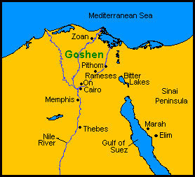 Britishisraelus That You May Know That There Is None Like Me - Map of egypt goshen
